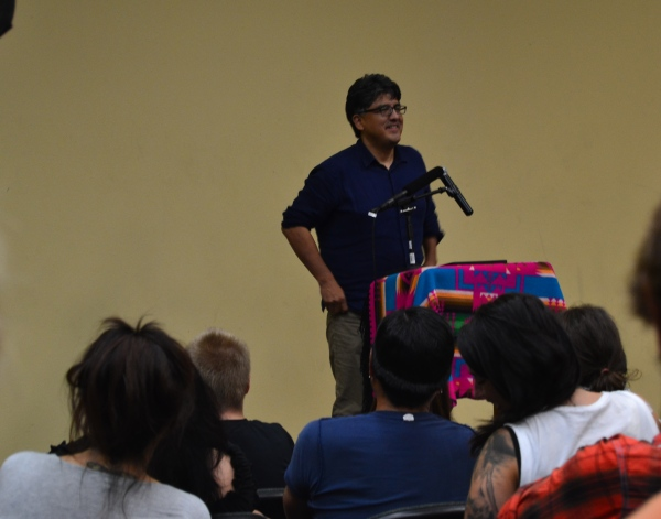 Sherman Alexie speaking at IAIA!